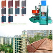 Color roof tile making machine